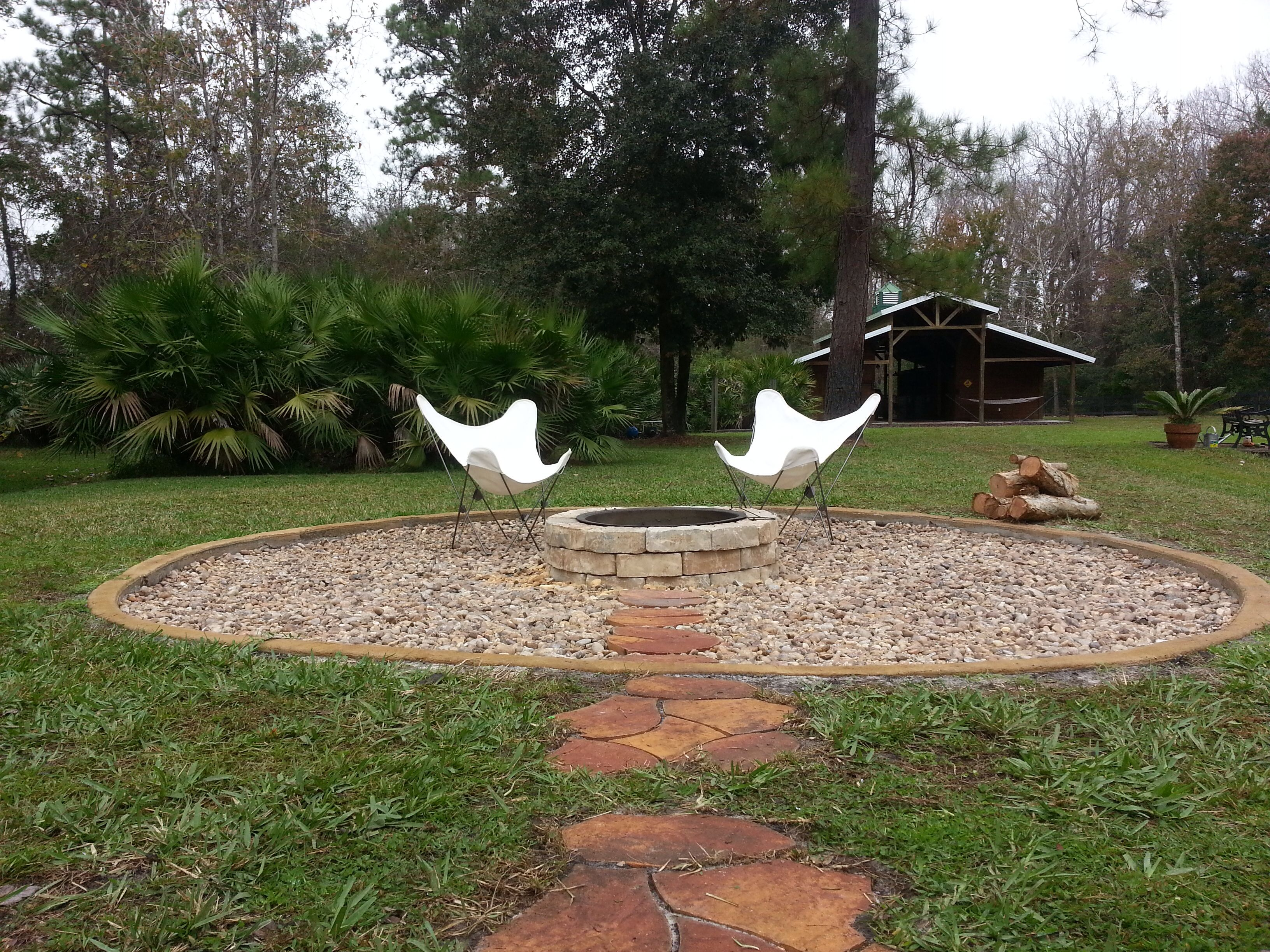 Fire Pit With River Stone Ground Cover Fire Pit Bought At