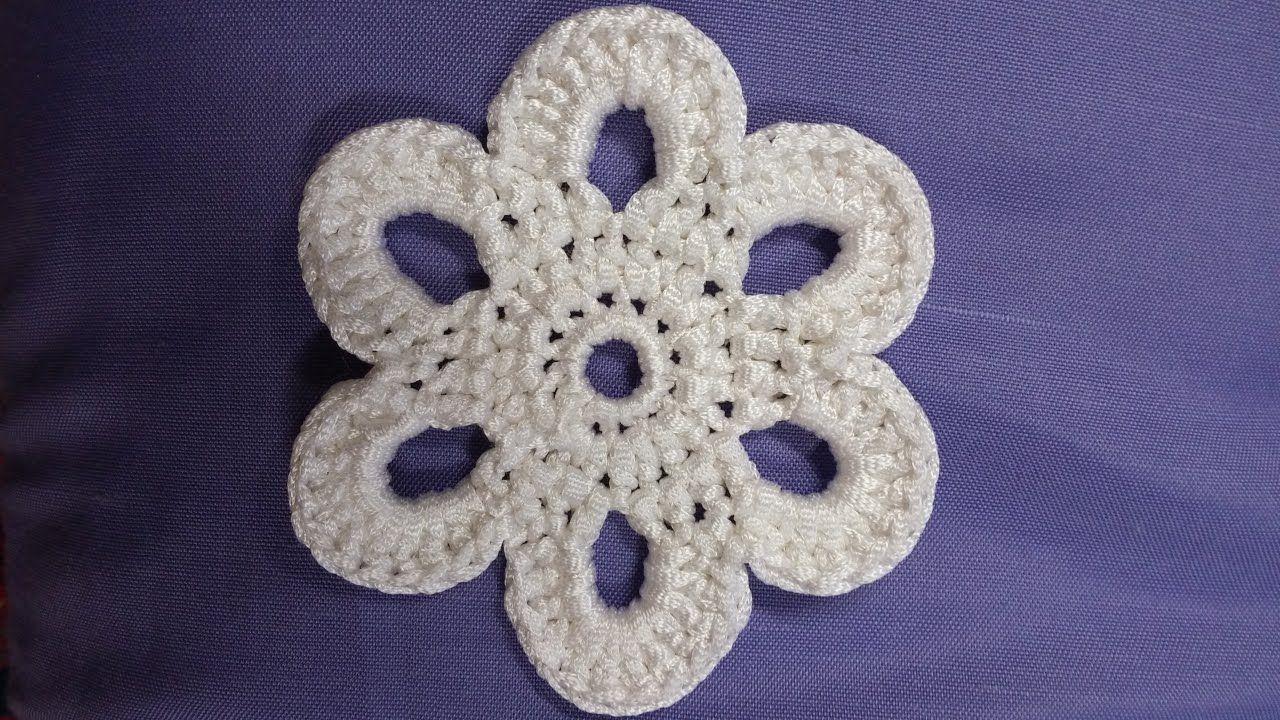 DIY - Fiore simil D&G uncinetto -  Crochet flower