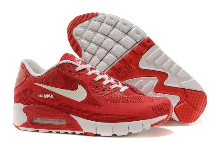 Nike Womens Air Max 90 Breathe Red White  4c09ca7d0d