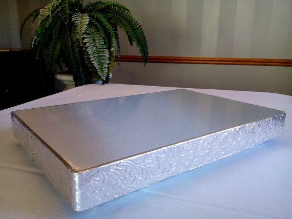 Half Sheet Cake Silver Reflections Half Sheet Cake Etsy In 2020 Sheet Cake Stand Half Sheet Cake Cake Stand Display