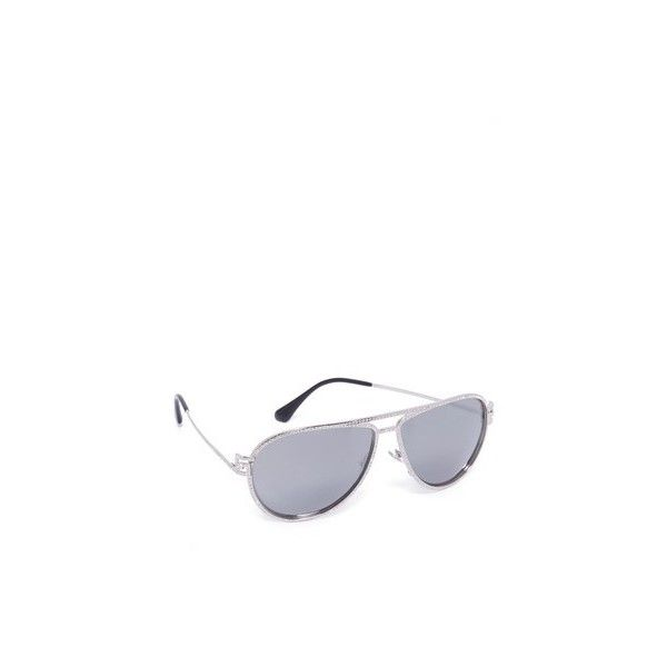 4a52e064180f Versace Greca Strass Aviator Sunglasses ( 490) ❤ liked on Polyvore  featuring accessories