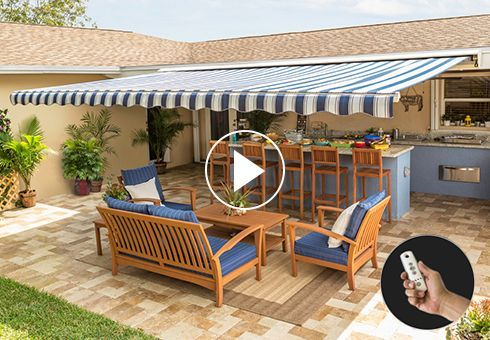 Video Library Sunsetter Awnings House Awnings Outdoor Rooms Retractable Awning