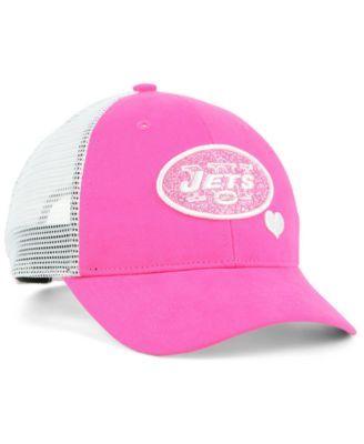 5870b455 47 Brand Girls' New York Jets Sugar Sweet Mesh Adjustable Cap - Pink ...