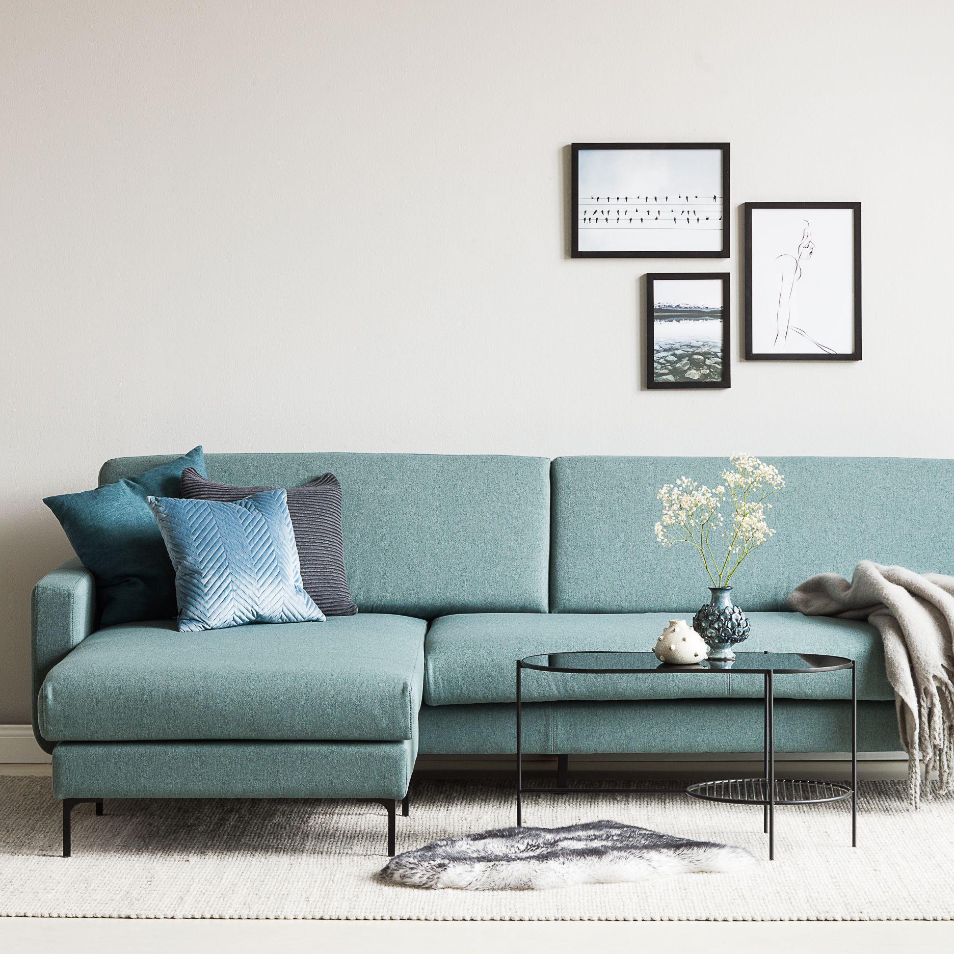 RICHMOND chaiselong sofa blå | Boligindretning, Sofa ideer
