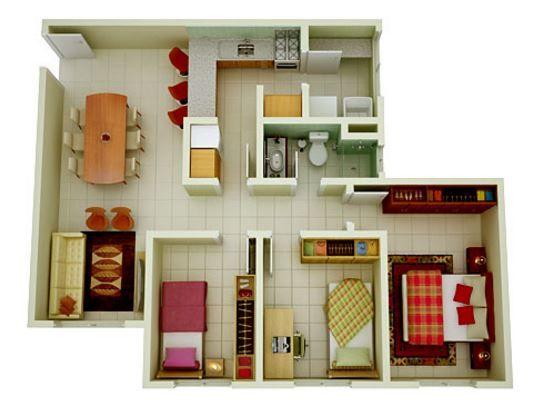 Modelo De Casas De 90m2 Con Planos En 3d Modelo De Casas Pequenas Diseno De Casas Sencillas Casas Pequenas