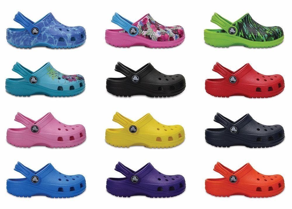 f0e950388b3b Crocs Kids Classic Cayman Clogs Now With New Colours   Sizing For 2018
