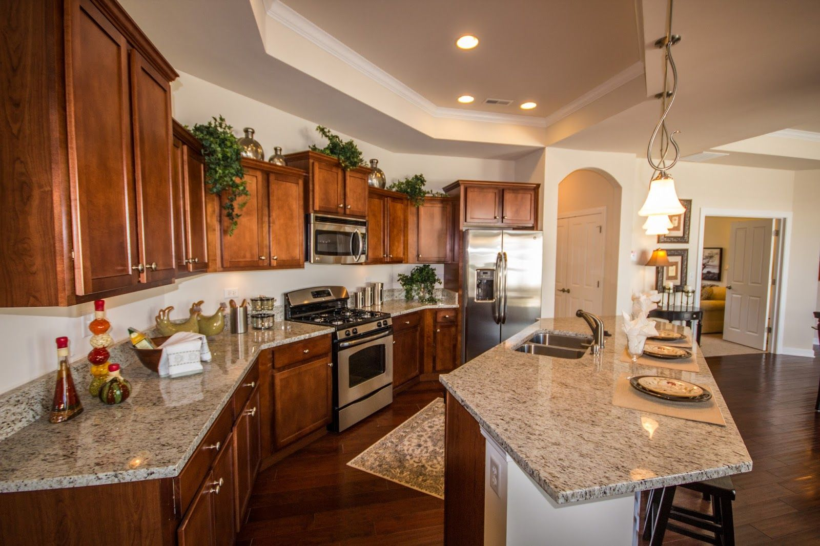 Kitchen Design In A Maintenance Free Ranch Home At Villas At Fox Run Http Homechanneltv Blog Cottage Style Kitchen Beautiful Kitchens Basement Paint Colors