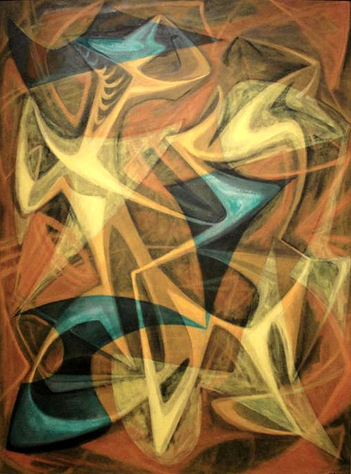 "Seymour Franks, untitled, 1947, oil on board, 36"" x 26"""