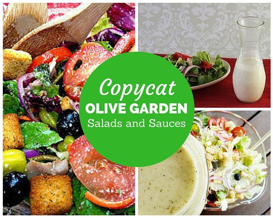 15 Copycat Olive Garden Salads and Sauces Olive garden