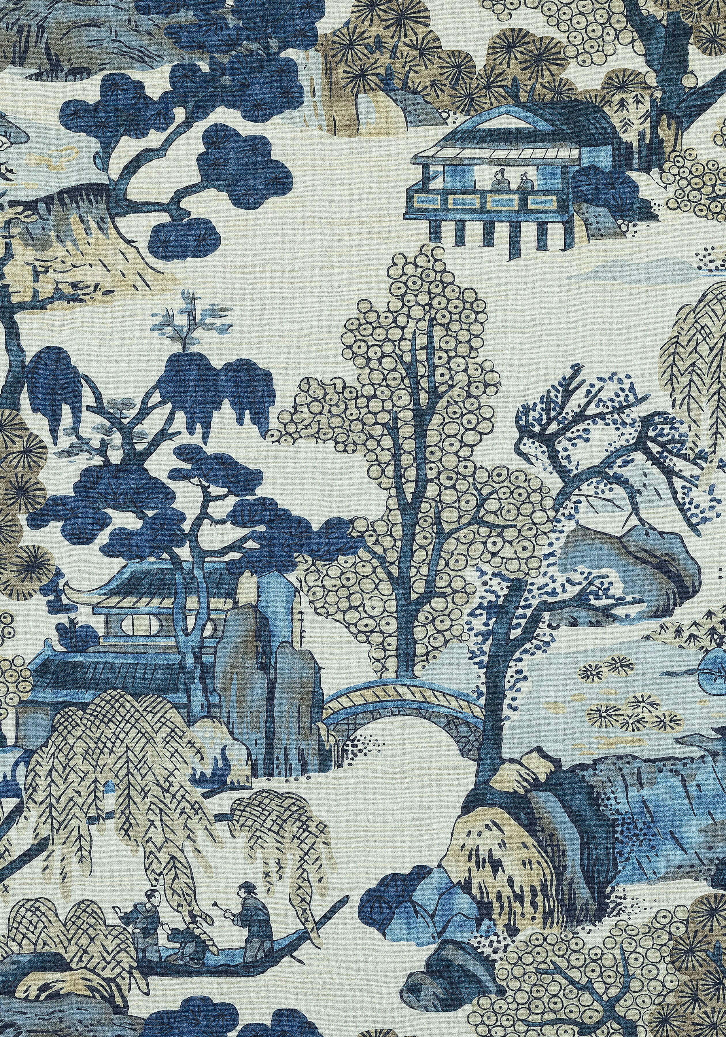 ASIAN SCENIC, Blue and Beige, F975461, Collection Dynasty