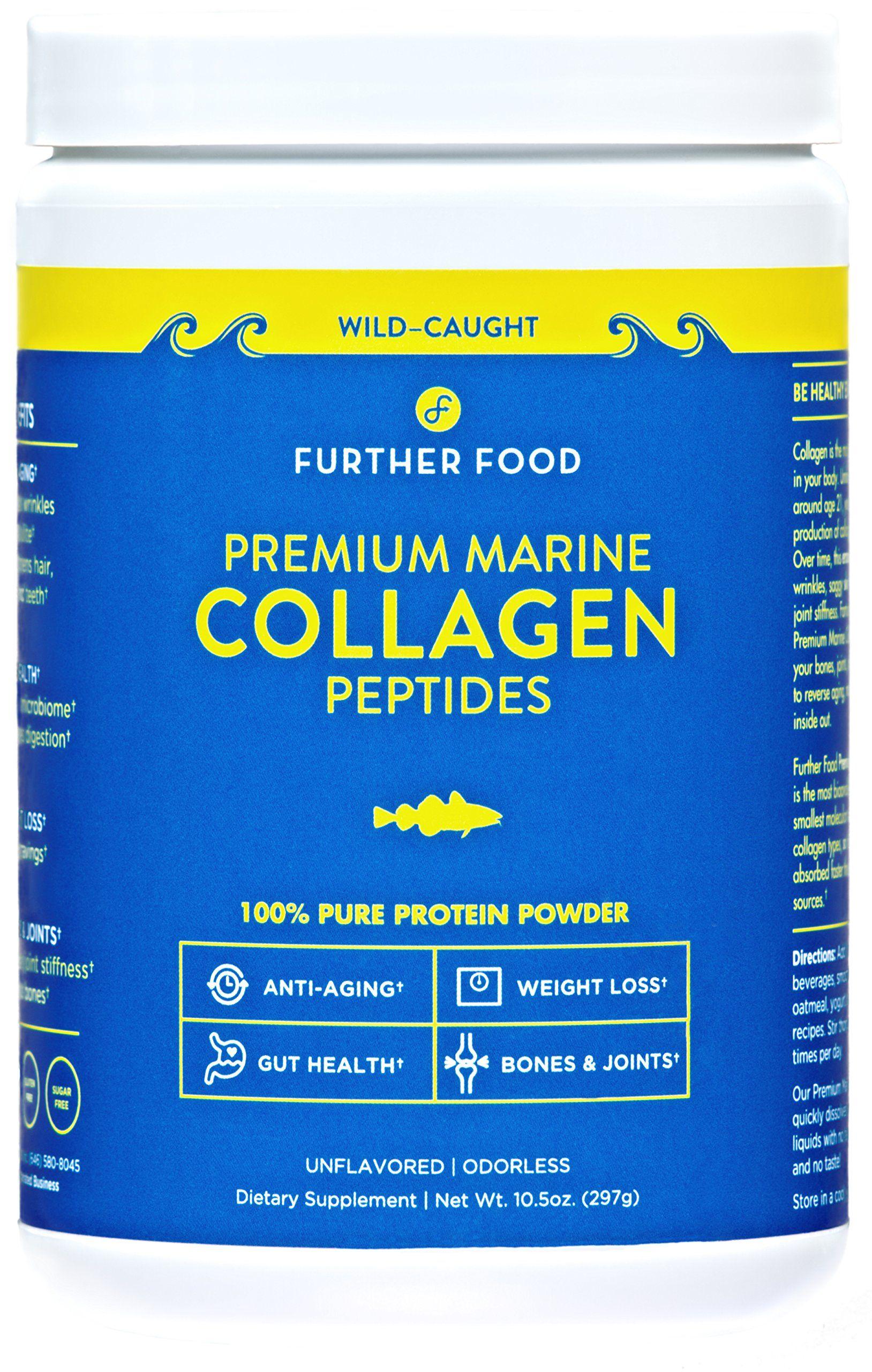 Further Food Premium Marine Collagen Peptides Protein Powder Wild Caught Non Gmo Paleo Collagen Peptides Hydrolyzed Collagen Powder Collagen Protein Powder