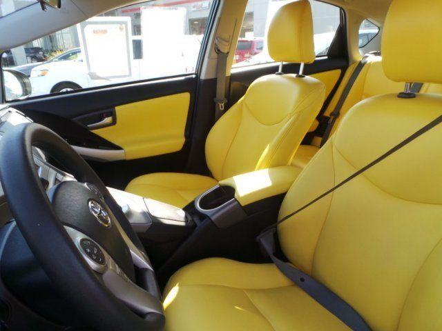 2015 Toyota Prius Two Hybrid Yellow And Black Interior Toyota