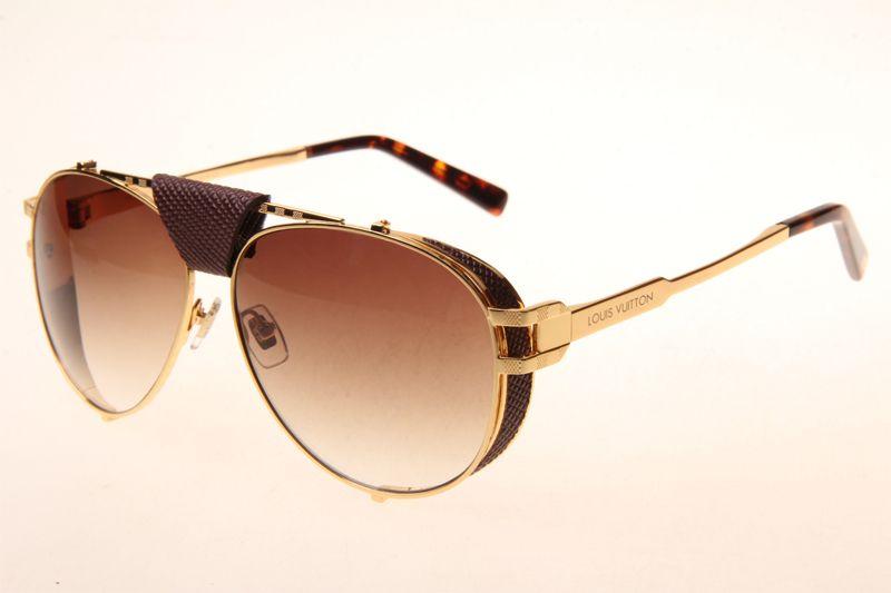 00b2d2a724841 Louis Vuitton Skyline Z0981E Sunglasses In Gold Gradient Brown