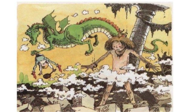 Elizabeth decidió perseguir al dragón y rescatar a Ronaldo. Buscó por todas p…