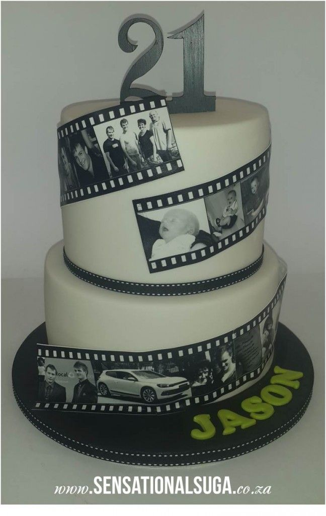 21st Film Strip Cake Bday Food In 2019 21st Birthday