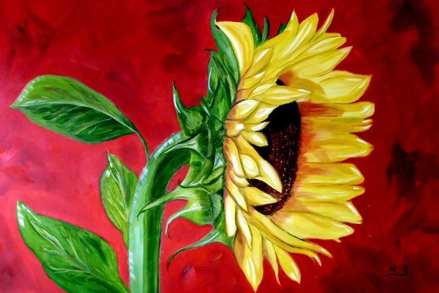 Sunflower Sunshine Painting  - Sunflower Sunshine Fine Art Print