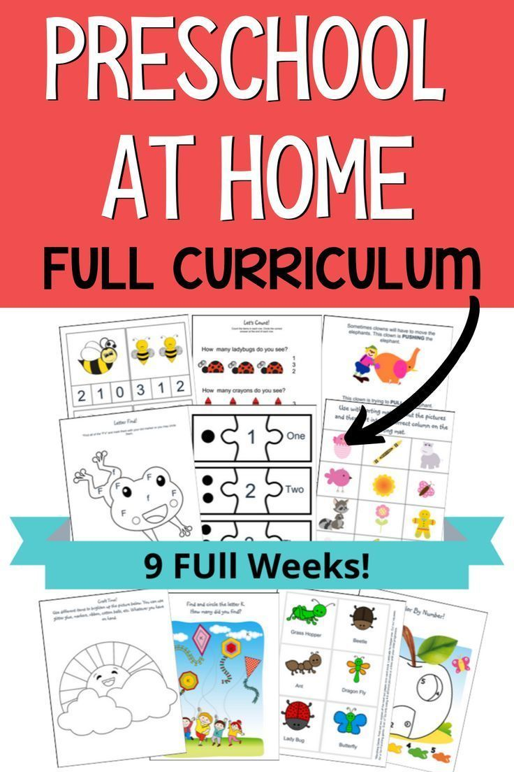 Prek curriculum at home for your preschooler. Easy to