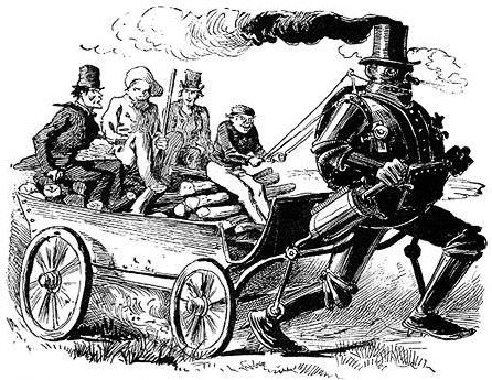 """Steam Man, Victorian Steam Powered Robot """"Any discussion of the history of technology is incomplete without a mention of the steam powered robots of Victorian times. In the days of steam power, everything you can think of was built in a steam powered form. That includes motorcycles, bicycles, coaches, tricycles and robots."""