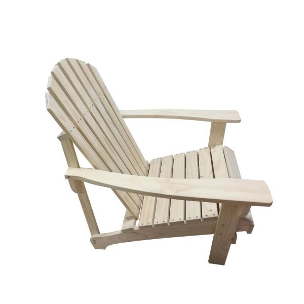 Hampton Bay Unfinished Stationary Wood Adirondack Chair Efs C 001 The Home Depot