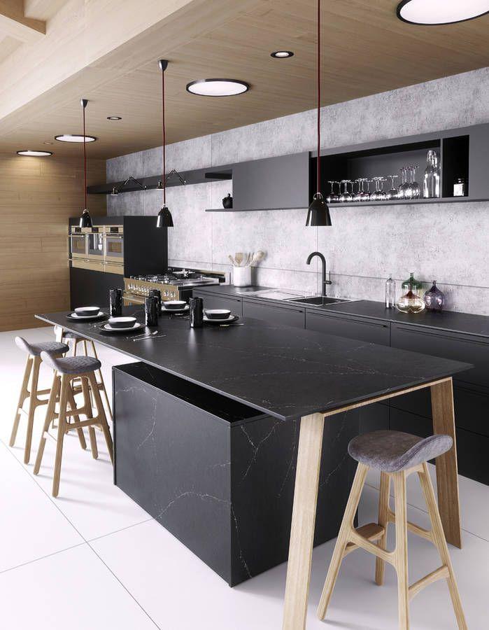 Cuisine Silestone by Cosentino Kaboul kitchen Pinterest - logiciel de plan de maison 3d gratuit