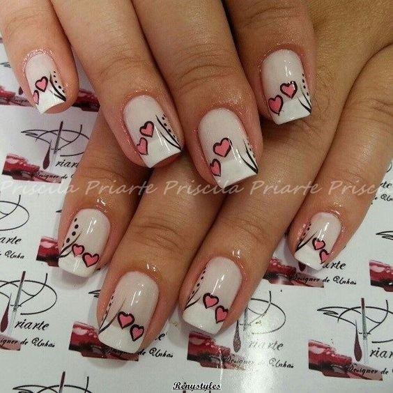Nail Designs For Valentine\'s Day - Reny styles | diseño uñas ...