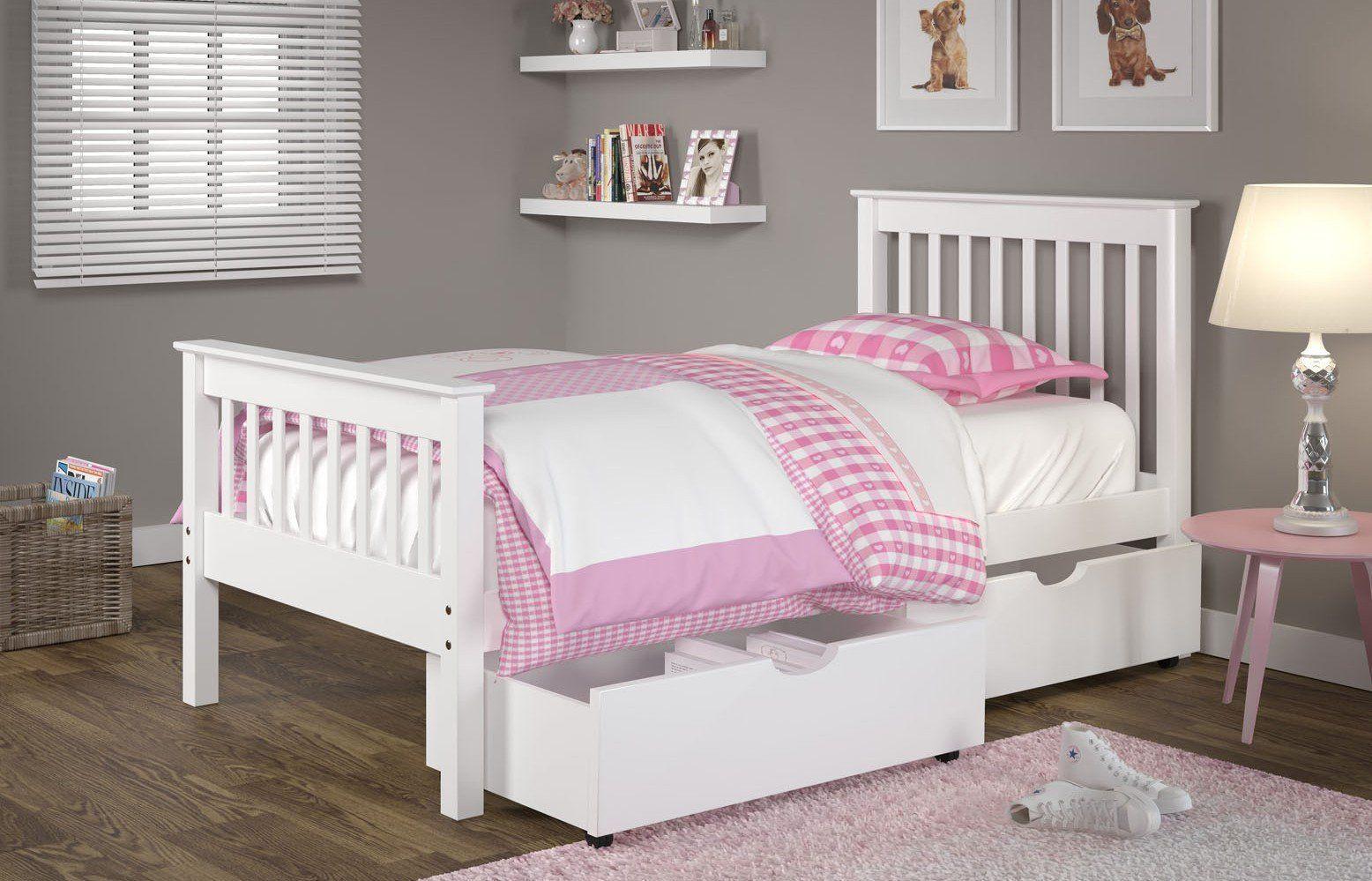 Joseph UnderBed Storage Drawers in White Kid beds, Kids