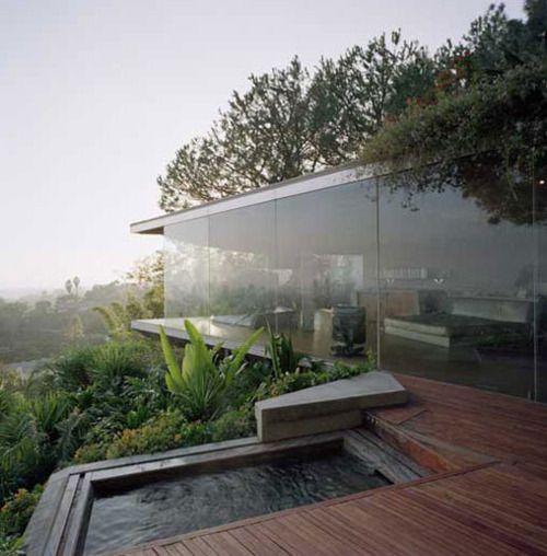 Goldstein house by Lautner Spaces Pinterest Vert, Maison