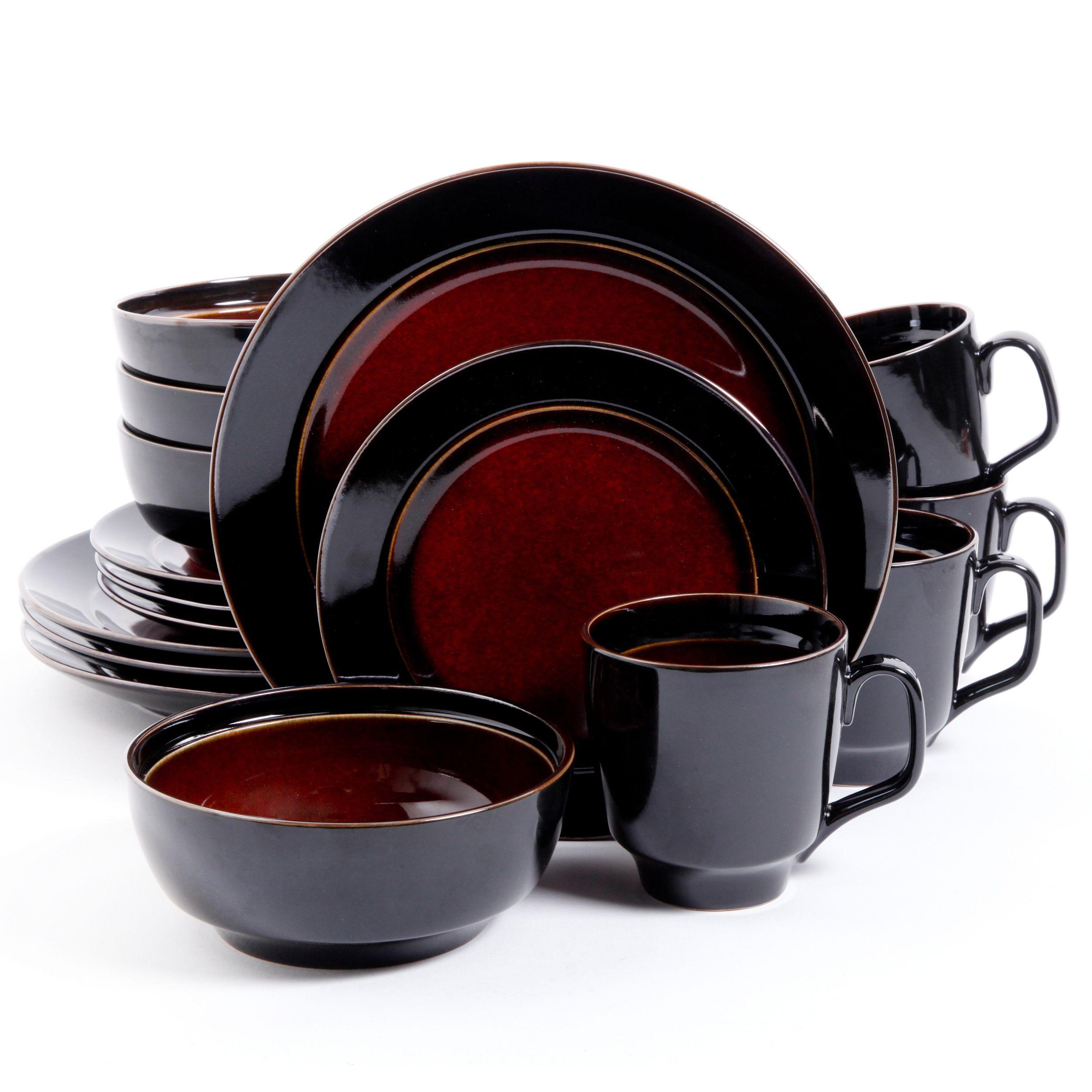 sc 1 st  Pinterest & Bella Galleria 16-piece Red Stoneware Dinnerware Set by Gibson Elite