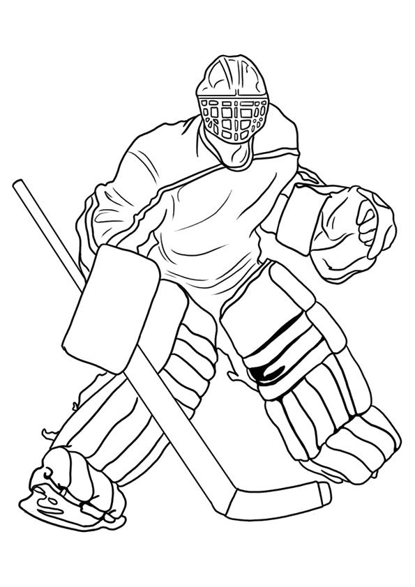 Print Coloring Image Momjunction Sports Coloring Pages Hockey Kids Hockey Drawing