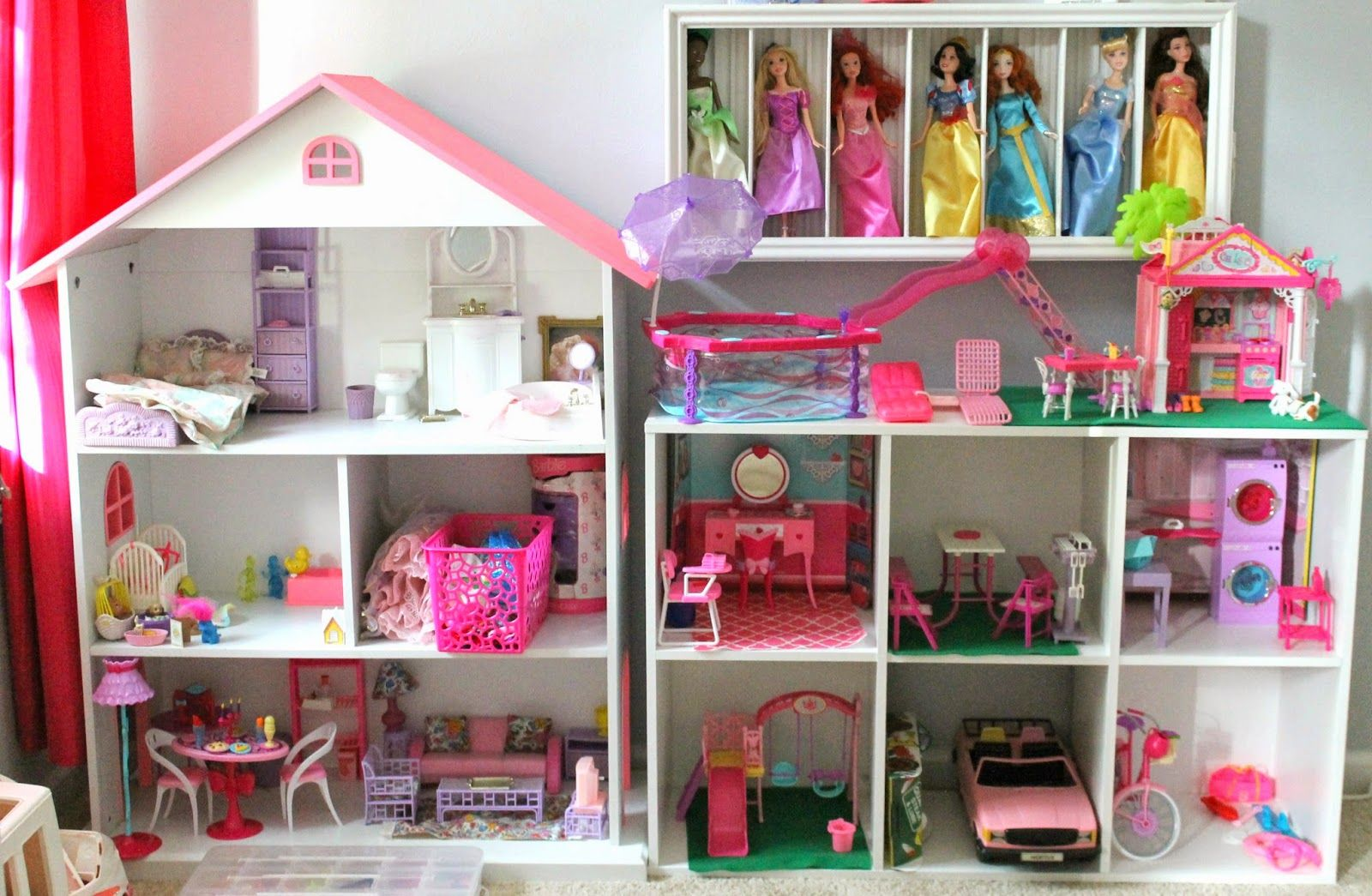 Wondrous Diy Barbie House Using A Bookshelf And Cube Shelf From Download Free Architecture Designs Rallybritishbridgeorg