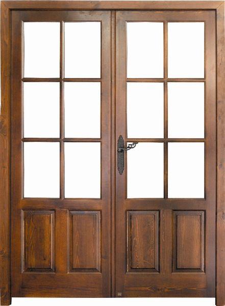 Puertas de dos hojas de madera buscar con google casa - Puertas de dos hojas ...