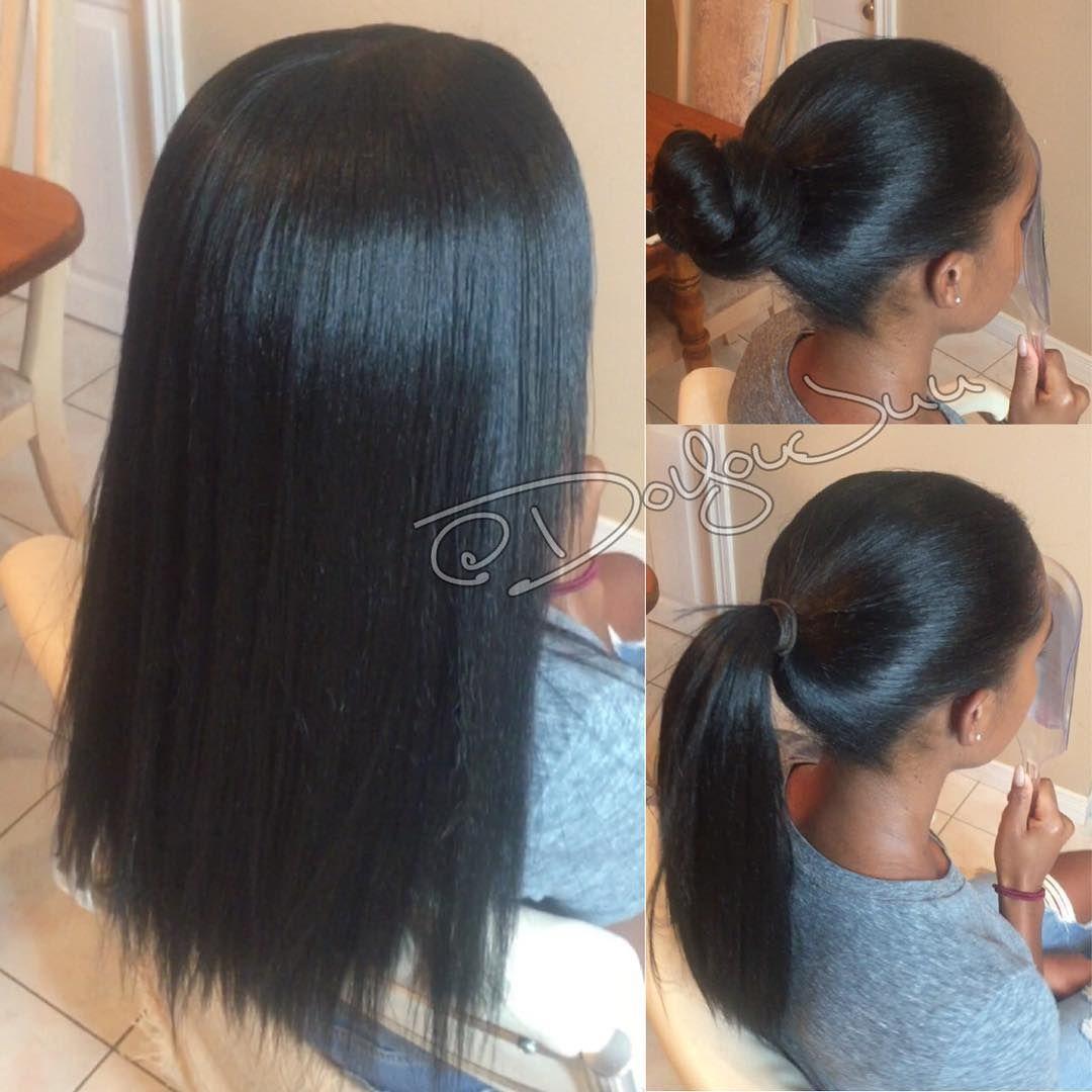 Vixen crochet braids silk press done w pks of definition hair