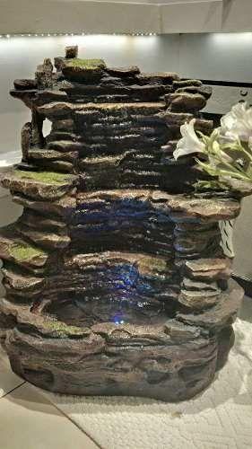 Fuente De Agua Cascada En Piedra Mucho Caudal De Agua Fountain - fuentes de cascada
