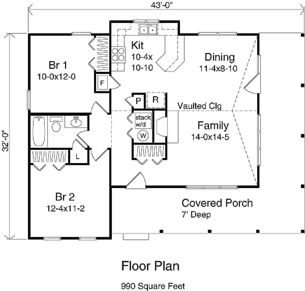 990 sq ft