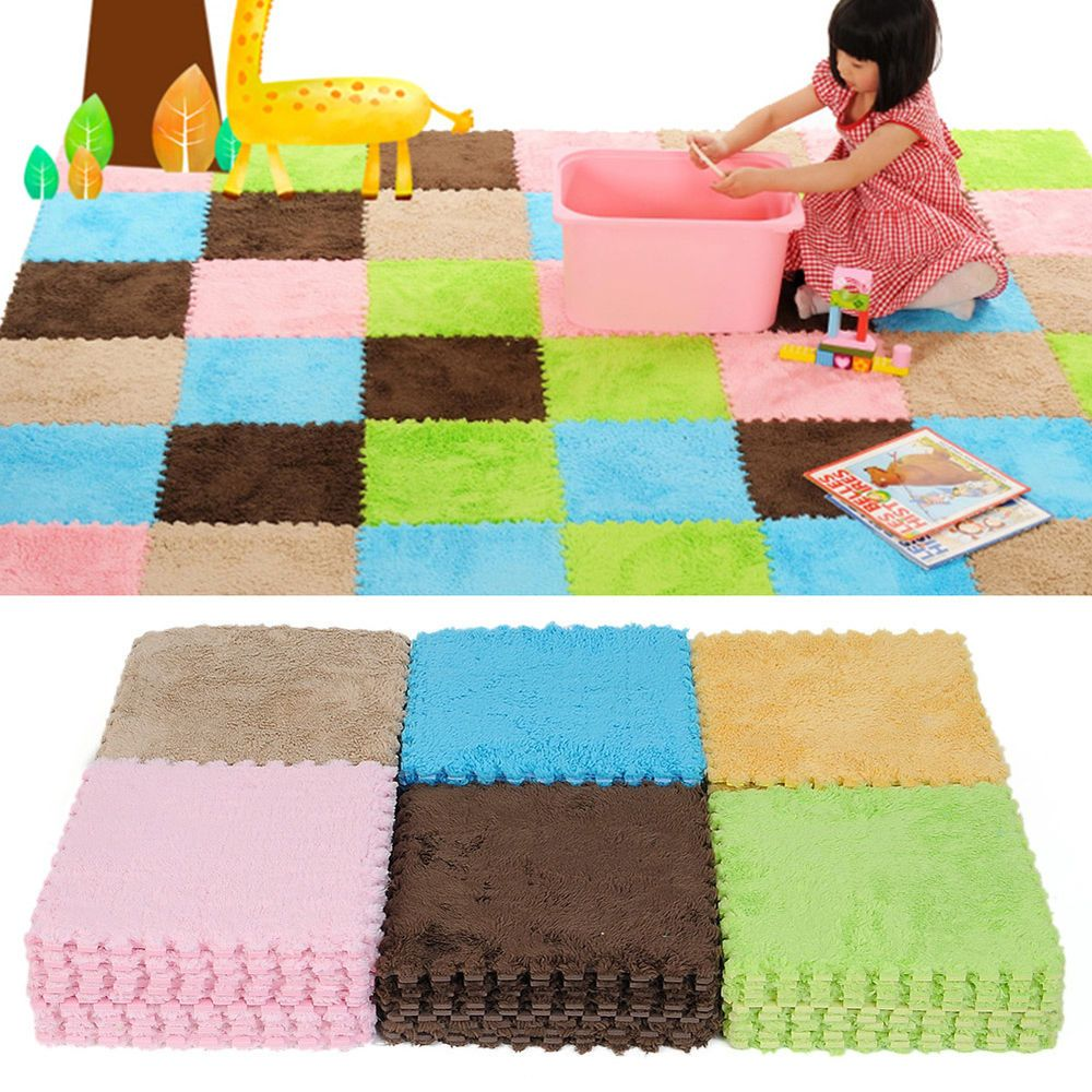 9pcs Soft Floor Covering EVA Foam Puzzle Floor Mats Tile