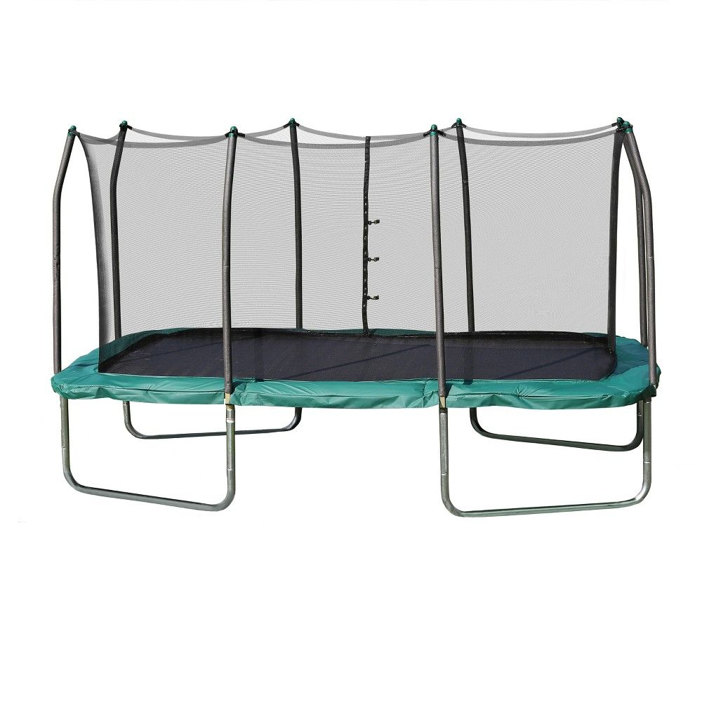 Skywalker Rectangle Trampoline With Enclosure Green 14