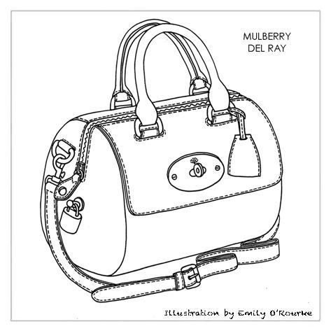 Creative Sketch Of Woman Fashion Bag  Stock Photo  Colourbox