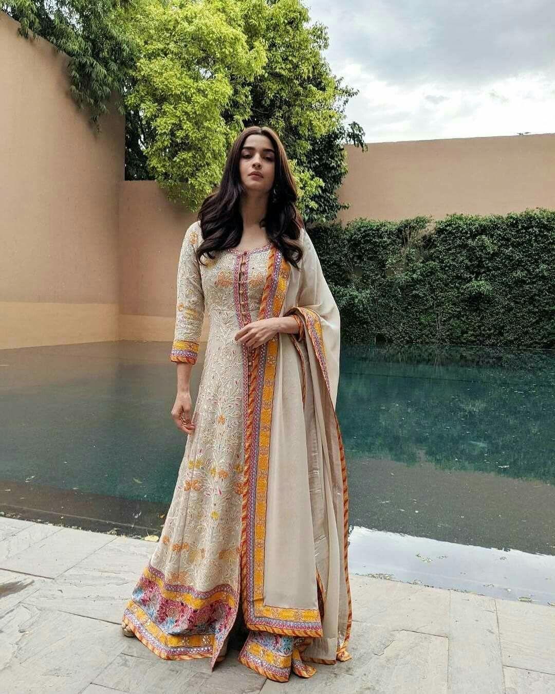 Alia Bhatt Designer Muslin Digital Print Suit