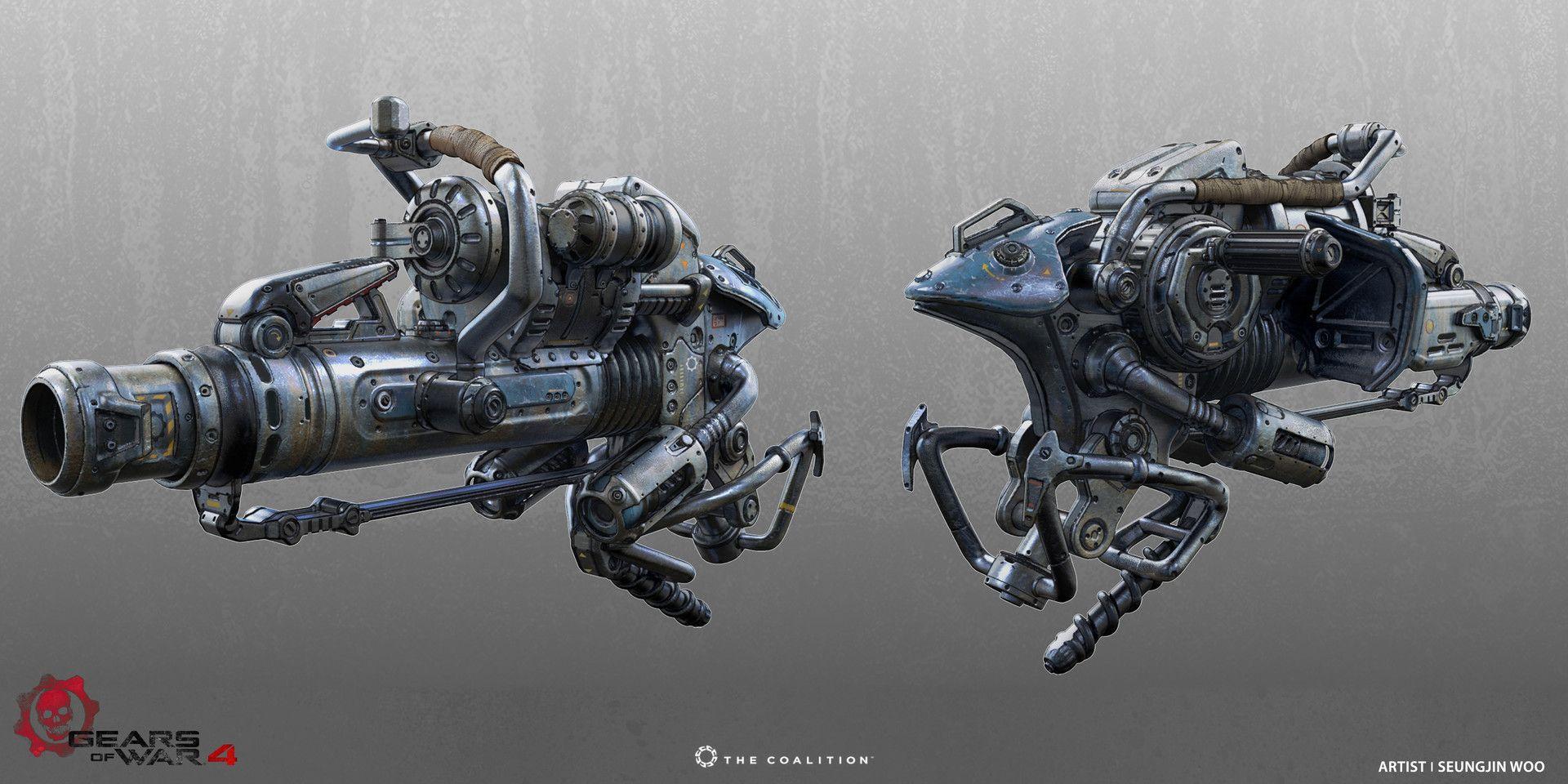 Artstation Gears Of War 4 Mortar Update Seungjin Woo Gears Of War Space Crafts Mortar