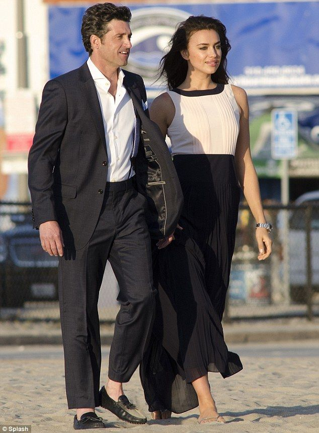 Patrick Dempsey Escorts Beautiful Co Star As They Shoot Ad Campaign