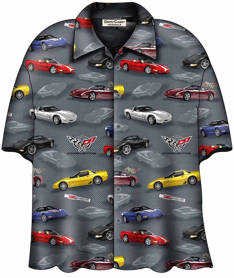 BRAND NEW! CORVETTE C5 CARS HAWAIIAN CAMP SHIRT David Carey