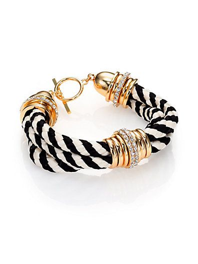 Pave corded bracelet from ABS by Allen Schwartz