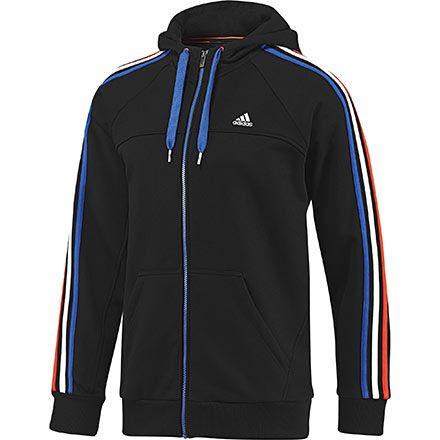 adidas Men's Essentials 3 Stripes Full Zip Hoodie | adidas