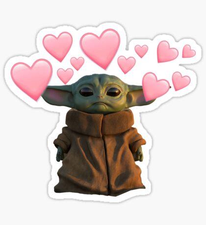 Baby Yoda Gifts Merchandise Yoda Sticker Star Wars Stickers Meme Stickers