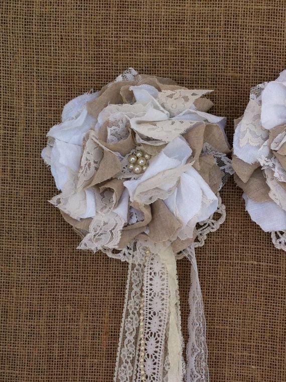 Shabby Chic Tiebacks Flower Curtain
