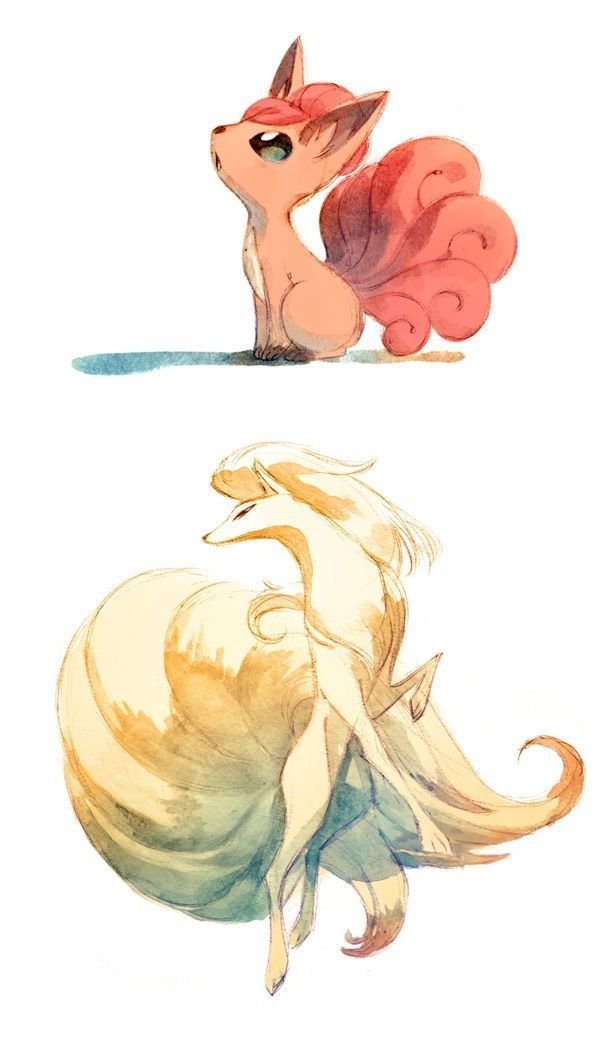 ninetails pokemon drawing reference  Google Search