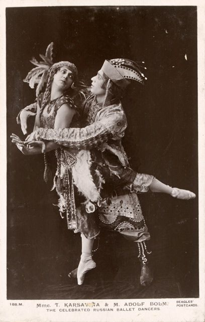 Tamara Karsavina and Adolph Bolm in The Firebird, photograph by Bassano, 1910, V&A Theatre & Performance Collections