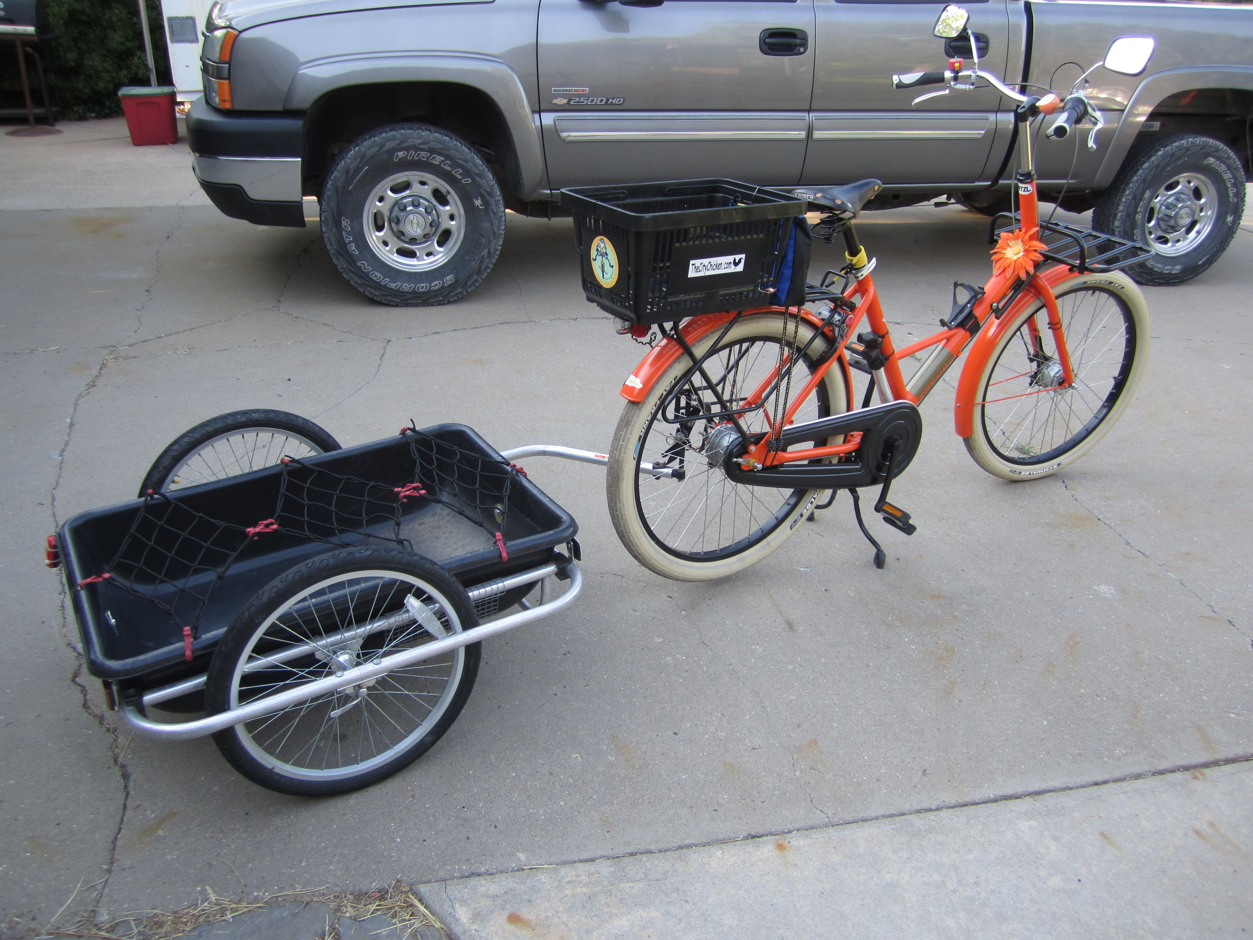 I Want To Build A Big Bike Trailer Bike Trailer Bicycle