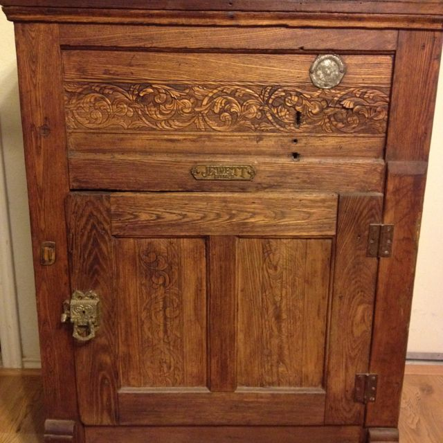 Old Ice Box Vintage Refrigerator Craftsman Furniture