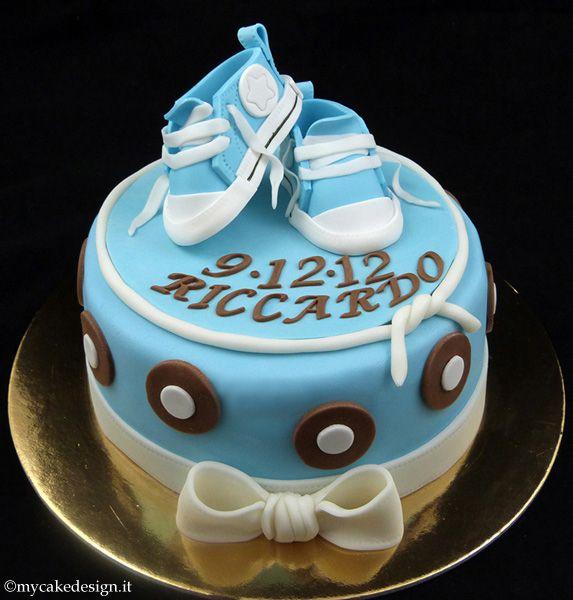 Famoso Torta Battesimo: Scarpine converse per bimbo | My Cake Design  JW99